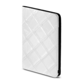 "OCTO Quilted Kindle 2 Leather Cover with Hinge (Fits 6"" Display, Latest Generation Kindle), Patent White"