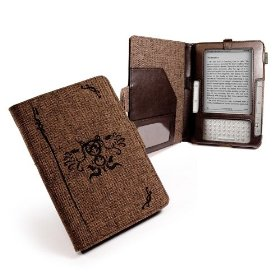 "Eco-nique natural Hemp Brown case cover for Kindle 2 / Global Wireless 6"" - Book Style"