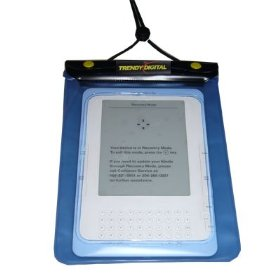 TrendyDigital WaterGuard Waterproof Case for Kindle, Blue Border