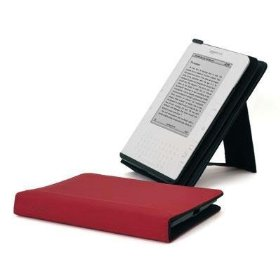 Speck Products DustJacket Protective Cover with Built-in Reading Stand for Amazon Kindle 2 in Red, KDL2-DJ-F-RD