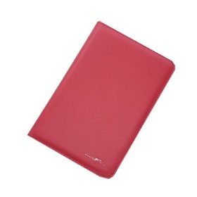 MaxGuard Plus Kindle Leather Cover (fits 2nd Generation Kindle), with Embedded Corner Closure, Red Color